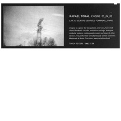 Rafael Toral - Engine: Live at the Pompidou Centre